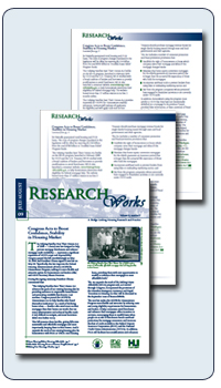 Snapshot of ResearchWorks PDF Document on the HUD USER website.