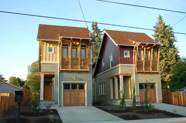 Narrow small urban house joy studio design gallery for Home designers portland oregon
