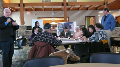 Image of Pokagon Band elders participate in housing design charrette.