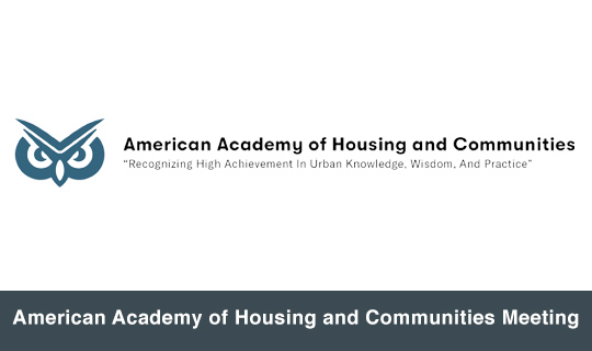 American Academy of Housing and Communities Meeting