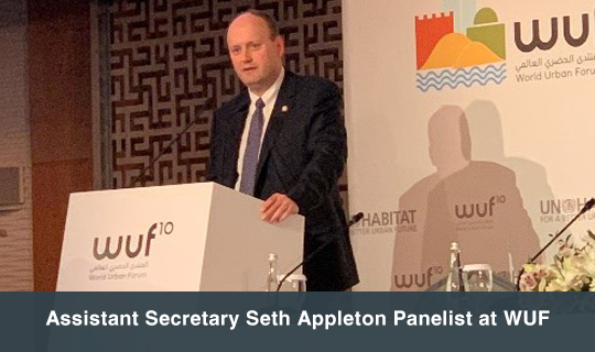 Assistant Secretary Seth Appleton Panelist at WUF