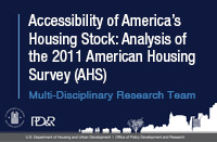 Assessing the Accessibility of America's Housing Stock for Physically Disabled Persons