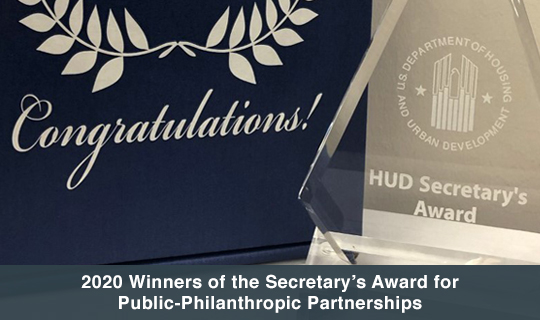 2020 winners of the Secretary's Award for Public-Philanthropic Partnerships