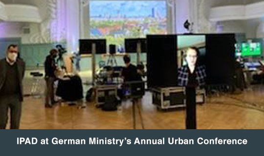 IPAD at German Ministry's Annual Urban Conference