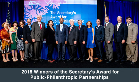 2018 Winners of the Secretary's Award for Public-Philanthropic Partnerships
