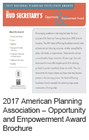 2017 American Planning Association - Opportunity and Empowerment Award Brochure