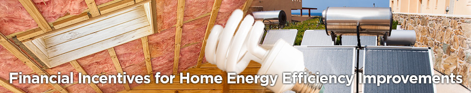Financial Incentives for Home Energy-Efficiency Improvements