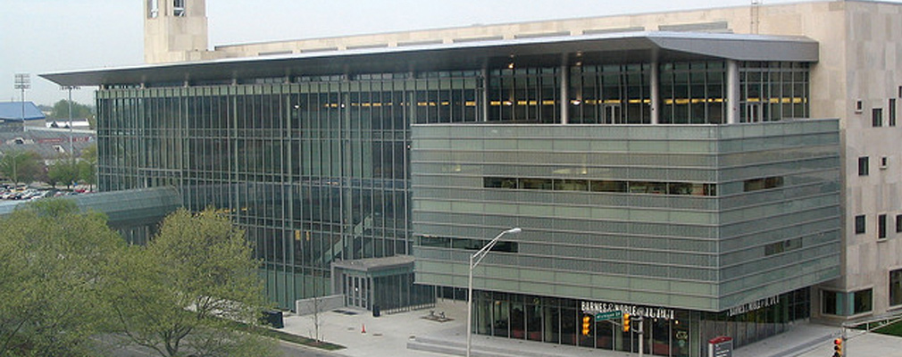 Photograph of the IUPUI campus center.