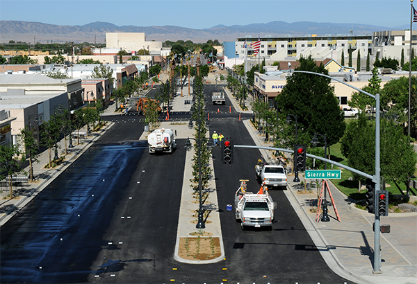 Phase I of the city's nearly $11 million investment in streetscape improvements along nine blocks of Lancaster Boulevard (The BLVD) (courtesy of City of Lancaster).