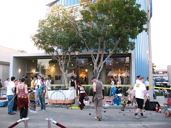 Arbor Artist Lofts during a street festival (courtesy of PSL Architects).