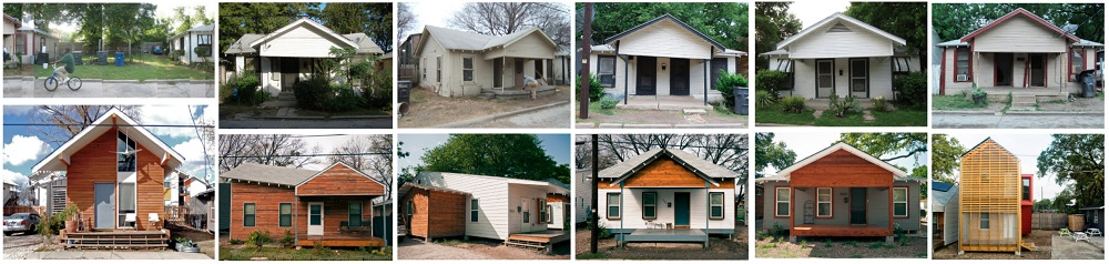 The restoration efforts respect the scale and proportion of the original homes on Congo Street (Courtesy of bcWORKSHOP).