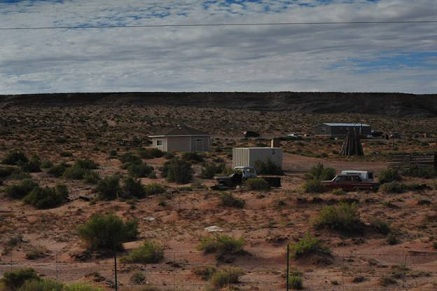 Some housing on the Navajo reservation is scattered site, and remote from infrastructure.