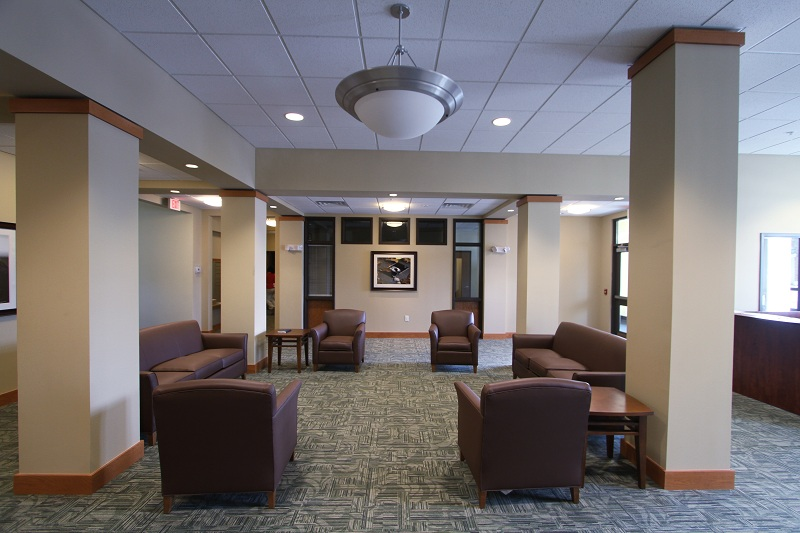 Community rooms within Veterans Manor encourage social interaction.