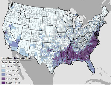Exploring Racial Segregation And Income Inequality Patterns And - Segregated us map