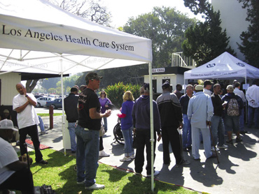 Twelve homeless veterans received HUD-VASH vouchers at this day long housing fair in the Greater Los Angeles area.