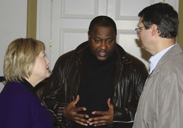 From left to right: Carrie Schmidt, Field Office Director in Richmond, Ronnie Legette, CPD Director for Richmond, and Mark Johnston participated in the 2012 PIT count in Richmond, Virginia.