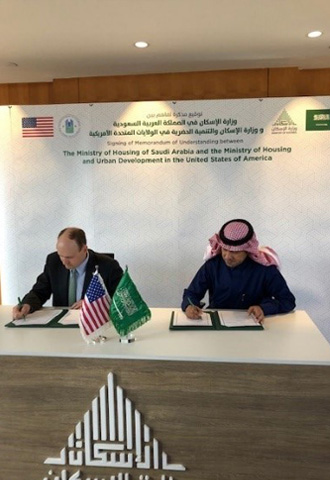 A Memorandum of Understanding between HUD and Saudi Arabia's Ministry of Housing