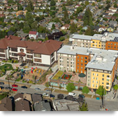 Seattle, Washington: Mixed-Use Development Provides Affordable Housing at Plaza Roberto Maestas.