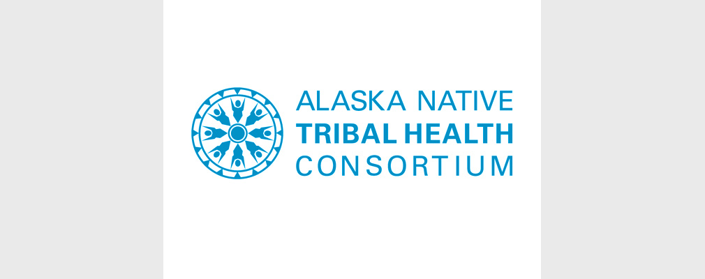 Image of the logo of the Alaska Native Tribal Health Consortium: a circular medallion and the organization's name.