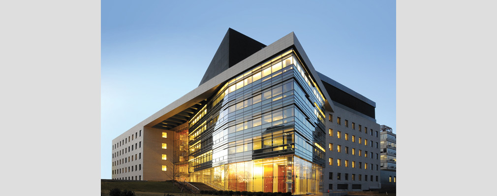 Photograph of a multistory medical building, the Jack D. Weiler Hospital, that is part of the Montefiore Health System.