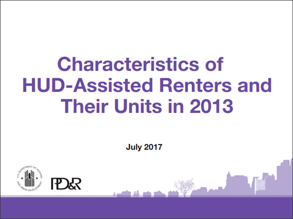Characteristics of HUD-Assisted Renters
