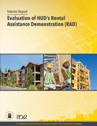 Publication cover of Evaluation of HUD's Rental Assistance Demonstration (RAD): Interim Report.
