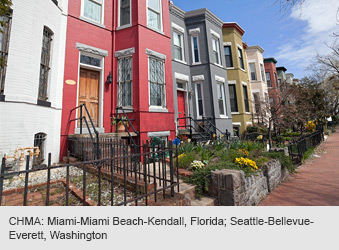 CHMA: Miami-Miami Beach-Kendall, Florida; Seattle-Bellevue-Everett, Washington