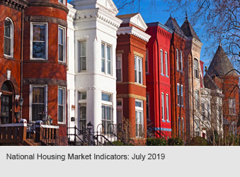 National Housing Market Indicators: July 2019