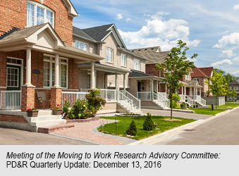 MEETING OF THE MOVING TO WORK RESEARCH ADVISORY COMMITTEE - REGISTRATION TO ATTEND AND/OR PROVIDE PUBLIC COMMENT