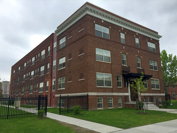 Vacant Building in Detroit Redeveloped as Affordable Housing