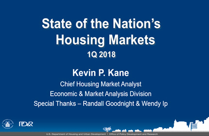 Summary of U.S. Housing Market Conditions: 1Q2018