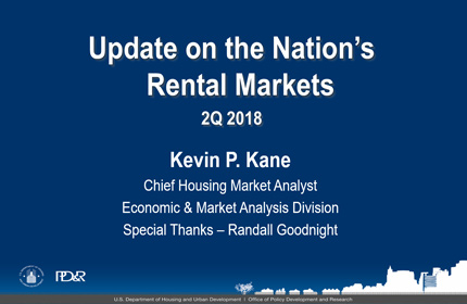 Summary of U.S. Rental Housing Market Conditions: 2Q2018