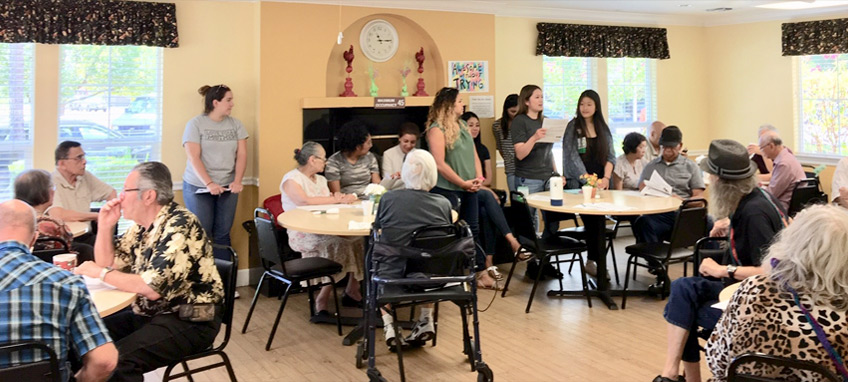 Nursing students and the RN Coach hosted a Quality of Life Health Fair focusing on nutrition, chronic disease management, fall prevention and home modifications.