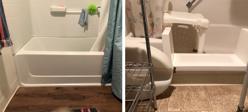 Bathroom modifications like lowering the tub give older adults with functional impairments accessibility in their apartment homes and reduce their risks of falls.
