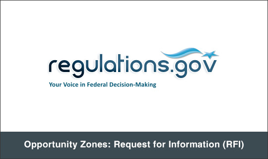 Opportunity Zones: Request for Information (RFI)