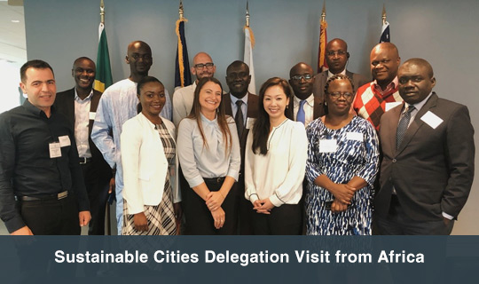Sustainable Cities Delegation Visit from Africa