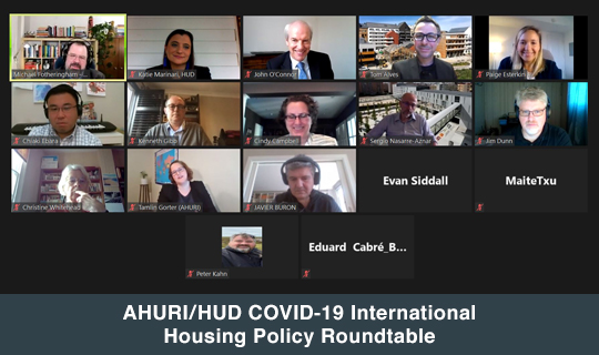 AHURI/HUD COVID-19 International Housing Policy Roundtable