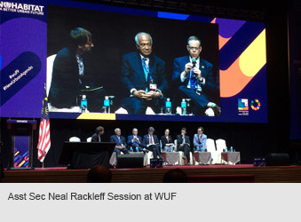 Asst Sec Neal Rackleff Session at WUF