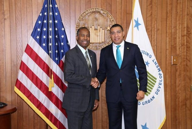 Jamaica Prime Minister Meeting with Secretary Carson