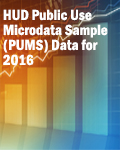 HUD Public Use Microdata Sample (PUMS) Data for 2016