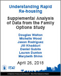 Understanding Rapid Re-housing Supplemental Analysis of Data from the Family Options Study