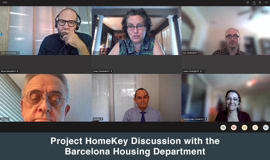 Project HomeKey Discussion with the Barcelona Housing Department