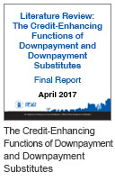 Literature Review: The Credit-Enhancing Functions of Downpayment and Downpayment Substitutes