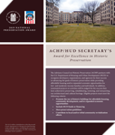Call For Entries: 2019 ACHP/HUD Secretary's Awards for Excellence in Historic Preservation Deadline: April 30, 2019