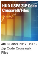 HUD USPS ZIP Code Crosswalk Files: Quarter 3, 2017