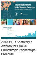 2018 HUD Secretary's Awards for Public-Philanthropic Partnerships Brochure