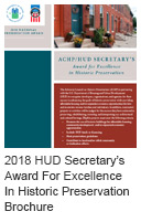 2018 HUD Secretary's Award For Excellence In Historic Preservation