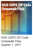 HUD USPS ZIP Code Crosswalk Files: Quarter 1, 2017