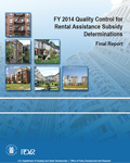 FY 2014 Quality Control for Rental Assistance Subsidy Determinations Final Report