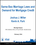 Same-Sex Marriage Laws and Demand for Mortgage Credit